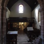 view of the gallery and nave from the chancel