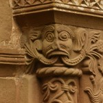Green Man on the right hand capital of the South door