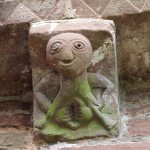 Sheela Na Gig corbel on the apse exterior