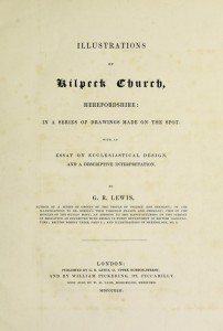 Illustrations of Kilpeck Church by G R Lewis