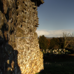 The graveyard seen from Kilpeck Castle
